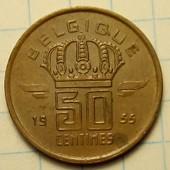 50 сантимов 1955 год Бельгия