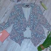Шикарный стильный пиджак/кардиган р-р 14 в отличном состоянии