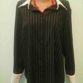 Офисная рубашка fashion extra, котон, рукав 3/4, р.46