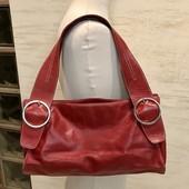 Ri2k London! Красивая качественная добротная сумка! Натуральная кожа в тёмно-красном! Без дефектов!