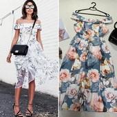 Очень красивое, стильное, женственное миди-платье с оголенными плечами