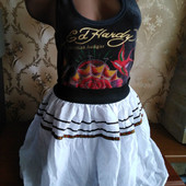 Женская летняя юбка Zerona с элементами вышивки. Размер 44-46.