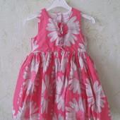 Нежное платье в ромашки с подьюбником на 9-12 мес