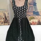 Платье в горошек с шифоновым шлейфом, Bewarel, размер S-M.