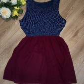 Модное шифоновое платье, р.46-48-50, состояние нового
