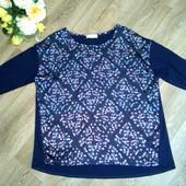 Очень красивая блуза с цветочным принтом, р.54-56. Состояние новой