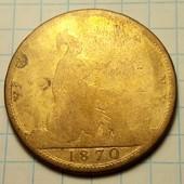 Великобритания 1 пенни 1870 год