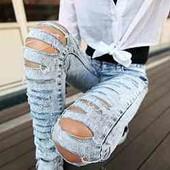 Скидка УП-10%. Стильные джинсы с рванки от Richmond,Турция 100%котон. размер 31