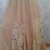 нарядная юбка клин годе,шифон, 3 цвета! шикарный подарок на грядущие праздники! отдаю по акции!