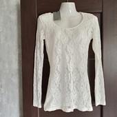Фирменная новая красивая ажурная блуза р.S (10-14)