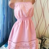 Новое красивенное платье Next . С вышивкой и перфорацией. Лоты комбинирую бесплатно смотрите оста