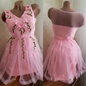 в наличии! Новые модели эффектных и великолепных платьев, цвет розовый и белый