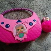 Отличный подарок для девочки! Новая сумочка Лол и пушистый брелок куколка Лол. Музыка, свет.