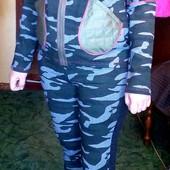 """Распродажа ! Трендовый костюм в стиле """"милитари"""", Анита Мода , Беларусь, р. 44-46 , 46-48 (на выбор)"""