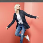 Стеганное пальто от Tchibo(Германия), размеры наши: 56-58 (50 евро)