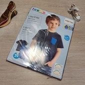 Германия! 1 упаковка из 2 суперовых коттоновых футболок с динозаврами для мальчика! 110/116!