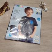 Германия! 1 упаковка из 2 суперовых коттоновых футболок с динозаврами для мальчика! 98/104!