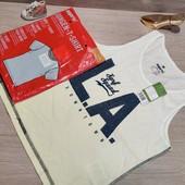 Германия!!! Симпатичный лот из коттоновой футболки и майки для мальчика! 134/140!