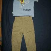 Комплект на лето. Штаны и футболка. 6-7 лет. 116-128 см рост