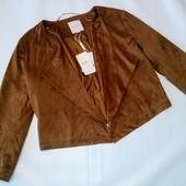 Стильный замшевый пиджачок шоколадного цвета. C&A (Германия) Р.L