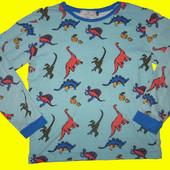 Реглан с динозаврами на 9-10 лет,