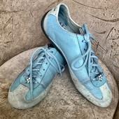 Sketchers! Классная прогулочная обувь! Натуральные замша-кожа! Р. 40 /стелька 27см! Состояние +!