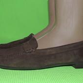 Кожаные замшевые натуральные туфли fairmount бразилия 23,5