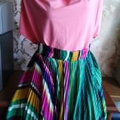 Женская плиссированная юбка Whole Folks, с ремнем. Размер М (44-46)