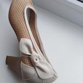 Кожаные мягенькие летние туфельки
