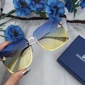 Классные, трендовые, двухцветные очки