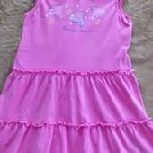 Трикотажный сарафан- платье 122-128