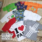 Хлопковые футболки на самых маленьких. Размер 24, 26, 28. На 1, 2, 3 года
