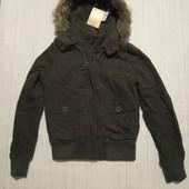 Куртка женская демисезонная теплая рр с-м, см.замеры,новая, сток, нюанс