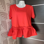Фирменная красивая блуза-футболка в хорошем состоянии р.14-18