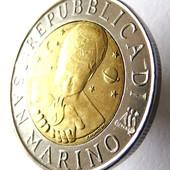 монета Сан-Марино, 500 лир 1996