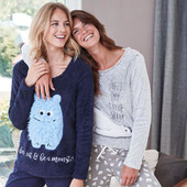 стильная пижама с мягкой, плюшевой кофтой от blue motion