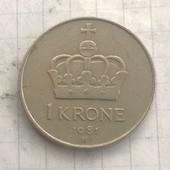 Швеция 1 крона 1981