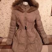 Удлиненная куртка-пуховик на синтепоне✓Кофе с молоком✓Отличная✓Много лотов✓✓✓