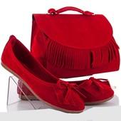 Шикарний набор балетки + сумочка