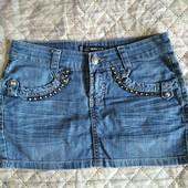 юбочка джинс со стразами