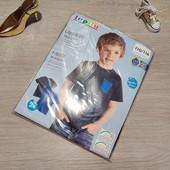 Германия!!! 1 упаковка из 2 суперовых коттоновых футболок с динозаврами для мальчика! 110/116!