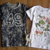 Lupilu комплект стильных футболок мальчику 4-6 лет рост 110-116 Германия