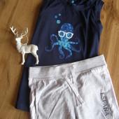 Lupilu комплект майка+ шорты+панамка мальчику 100% хлопок 4-6 лет рост 110-116 Германия