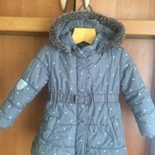 Куртка, деми, внутри флис, размер 3-4 года 104 см. rocha little rocha. состояние отл