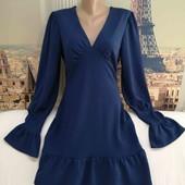 Платье тёмно-синее, Prettylittlething, размер М - L.