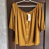 Фирменная новая красивая трикотажная блуза р.20-22