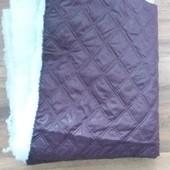Отрез ткани плащевка с утеплителем размер 1.45м × 1.65м