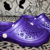 Женские кроксы 37 р. Цвет фиолетовый