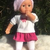 Кукла Bayer 37 см. с бутылочкой!!! Озвученная!!! Более 20звуков!!! Оригинал!!!