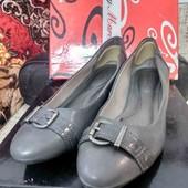 Туфли балетки на небольшой танкетке